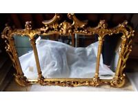 Ornate mirror by Attewell (England)