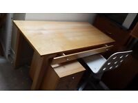 Office desk drawer unit and chair