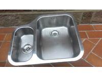 Franke 1.5 Left-Hand Small Bowl Under-mount Stainless Steel Sink
