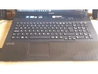 Sony Vaio 17.3 inch laptop with Blu Ray and high spec