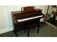 YAMAHA CLAVINOVA CLP-880 high end Digital Piano and stool in Mahogany colour - in perfect condition