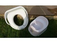 Potty and kids toilet trainer seat, free