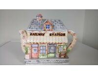 The Village Teapot Collection's Railway Station