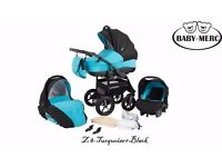 3-1 baby merc travel system pram pushchair and car seat