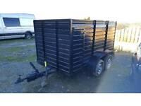 Twin wheeled box trailer