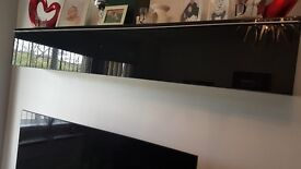 SOLD SOLD SOLD IKEA TV UNIT STAND AND WALL SHELF STORAGE UNIT BLACK HIGH GLOSS DRAWERS
