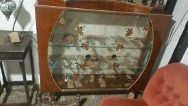 Glass Display Cabinet, Vintage 1950's