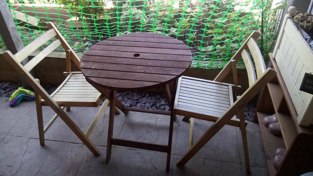 Wooden patio table and chairs | in Nottingham ...