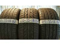 3x 215/35/18 tyres no alloys