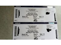 x2 Courteeners Tickets, Manchester Arena, Saturday 7th April
