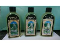 Massasge and bath oils 100ml new £7 each