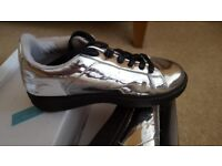Silver women's trainers