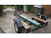 Heavy duty boat trailer(dimensions in description) suit bilge keel + others. Tows well, seen Havant