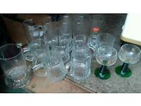 Glass tankards and other glasses