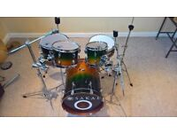 Sakae Pac-D 5 Piece Drum Kit complete with Hardware, Forest Fade