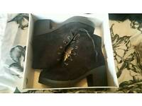 Brand new in box ladies size 8 black boots