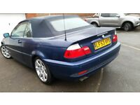 BMW 3SERIES COVERTIBLE AUTO, SERVICE HISTORY, LEATHER SEAT REVERSE SENSOR, CD ALLOY TIDY £1750 ONO