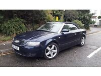 AUDI A4 CONVERTIBLE 2003 MOTD AUTO DIESEL BEAUTIFUL FULL CREAM LEATHER ONLY 1950