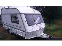 2 berth caravan with full awning