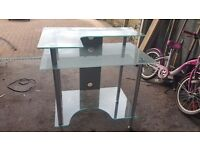 Glass computer desk for sale in very good condition