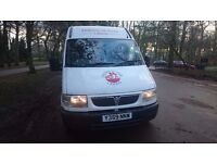 vauxhall movano, minibus , in daily use ,low milage, idael for camper conversion only £1395ono