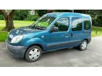 AUTOMATIC + 2008+RENAULT KANGOO AUTO 1598cc + LOW MILEAGE 49000 + MPV + BLUE + MOT 2018 +REMOTE LOCK