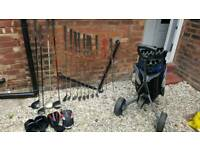 Dunlop XL tour full set of golf clubs and trolley great condition and a bargain