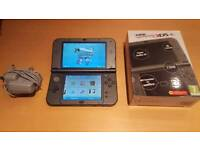 New Nintendo 3DS XL with box, charger and pokemon Y - like new
