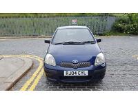 2004 Toyota Yaris 1L blue 5dr hatchback Maual Petrol MOT March2017 former owner,3 keys