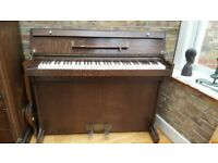 VINTAGE MINIPIANO BY EAVESTAFF USED BY PRINCESS ELIZABETH & MARGARET IRON FRAME