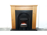 Next solid wood electric fireplace
