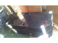 Glass lcd tv stand