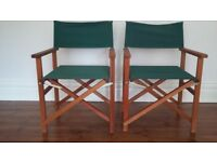 Relisted & Reduced. 2 Director Style Garden Chairs