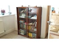 BOOK CASE or DISPLAY CABINET. Bereavement sale BARGAIN £45 or OFFER! Try your luck!!