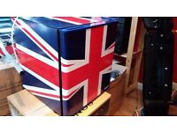 mini fridge in union flag style