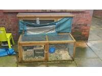 Indoor cage and outdoor hutch