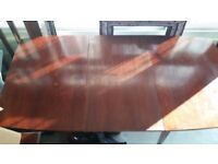 Mahogony Solid Wood Extendable Dining Room Table with 6 Chairs