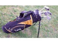 lynx golf bag with stand and clubs good condition only £5.00