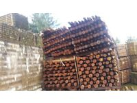 120 creosote stakes 3 to 4 inch x 5 foot 6inch