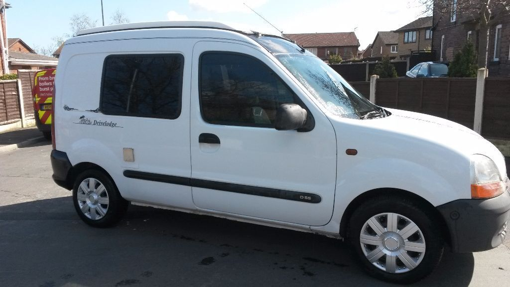 1998 renault kangoo drivelodge joey 2 birth camper long mot good condition may part ex. Black Bedroom Furniture Sets. Home Design Ideas