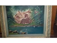 Oil on hardboard original painting