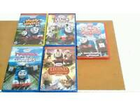 5 x BRAND NEW THOMAS AND FRIENDS DVD BUNDLE