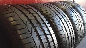 SET of 4 ~~~ 275/35R21 Pirelli PZero ~~~ Bentley Original Equipment ~~~ SUMMER ~~~ 85-95%tread