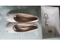 FAITH CHIC WEDDING SHOES SIZE 42. NEW IN ORIGINAL PACKAGING/BOX.