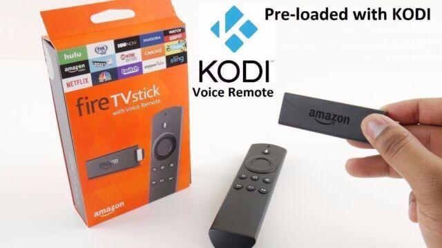 Amazon Fire Stick TV with Alexa Voice Remote & KODI Krypton 17.4 installed - NEW