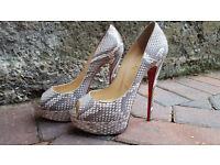 Christian Louboutin Shoes High Heels Lady Peep Python Bronte