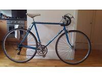 Vintage 1970s 531 reynolds frame claud butler bike holdsworthy - electric blue