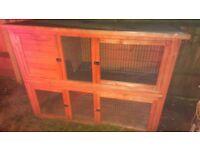 Rabbit hutch double tier