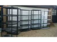 Plastic shelving units