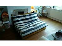 Futon: sofa and double bed